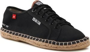 Buty letnie męskie Big Star sznurowane z tkaniny