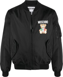 Czarna kurtka Moschino w młodzieżowym stylu