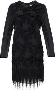 Sukienka Just Cavalli z długim rękawem z okrągłym dekoltem