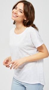 T-shirt Moodo w stylu casual z krótkim rękawem z okrągłym dekoltem