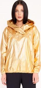 Złoty sweter Byinsomnia z tkaniny