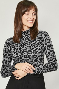 Bluzka Click Fashion z tkaniny z długim rękawem