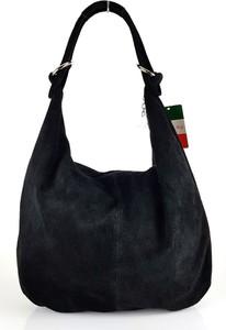 d89a849c1cf2e torebki zamszowe czarne - stylowo i modnie z Allani