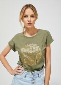 Bluzka Moodo z okrągłym dekoltem z krótkim rękawem