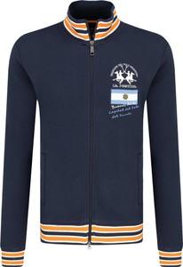 Granatowa bluza La Martina z nadrukiem
