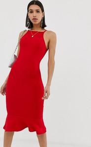 Czerwona sukienka Ax Paris bez rękawów