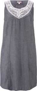 Sukienka bonprix John Baner JEANSWEAR midi z okrągłym dekoltem bez rękawów
