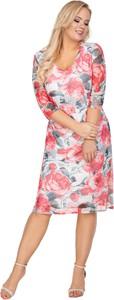 Sukienka Ptakmoda.com z tiulu z długim rękawem
