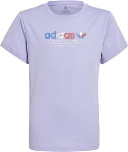 Bluzka dziecięca Adidas dla dziewczynek z krótkim rękawem