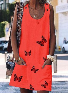 Czerwona sukienka Sandbella prosta mini