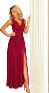 Sukienka NUMOCO bez rękawów z szyfonu z dekoltem w kształcie litery v