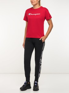 Spodnie sportowe Champion z dresówki z nadrukiem