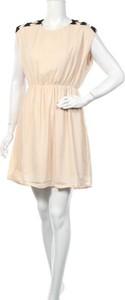 Sukienka Lm z okrągłym dekoltem mini