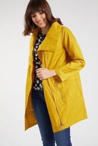 Żółta kurtka Monnari w stylu casual z bawełny długa