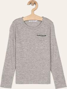 Koszulka dziecięca Calvin Klein z długim rękawem z bawełny