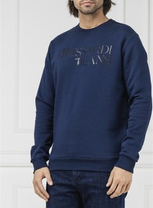 Niebieska bluza Trussardi Jeans w młodzieżowym stylu