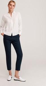 Granatowe spodnie Reserved w stylu klasycznym