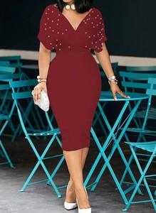 Czerwona sukienka Arilook midi