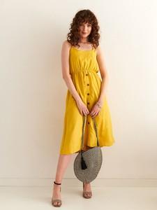 Żółta sukienka Top Secret szmizjerka