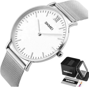 Zegarek damski SKMEI 1181 bransoleta MESH srebrny