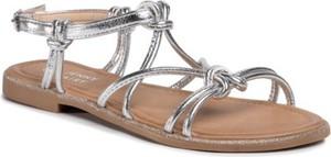 Srebrne sandały Jenny Fairy z klamrami w stylu casual