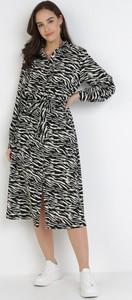 Sukienka born2be midi z dekoltem w kształcie litery v