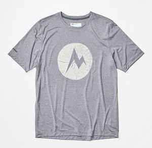 T-shirt Marmot z tkaniny z krótkim rękawem