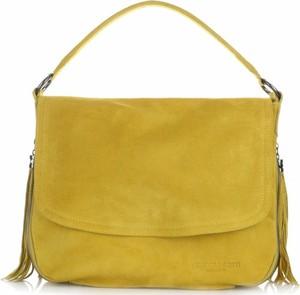 Żółta torebka VITTORIA GOTTI średnia