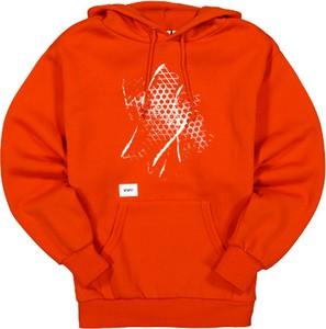 Pomarańczowa bluza Vans z bawełny w młodzieżowym stylu z nadrukiem