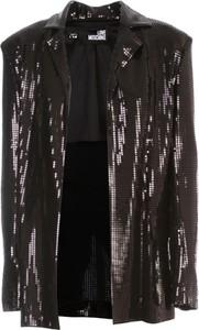 Czarna kurtka Love Moschino w stylu casual krótka