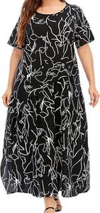 Czarna sukienka Arilook z bawełny w stylu casual z okrągłym dekoltem