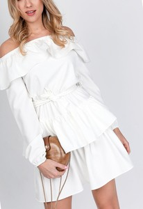 Sukienka ZOiO.pl z długim rękawem hiszpanka w stylu casual