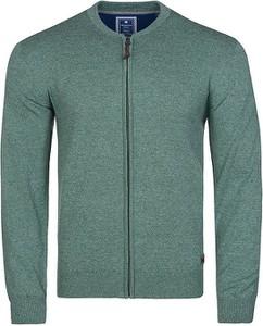 Zielony sweter Redmond z bawełny w stylu casual