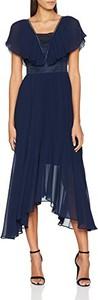 Niebieska sukienka amazon.de z krótkim rękawem