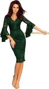Sukienka Ptakmoda.com z dekoltem w kształcie litery v ołówkowa midi
