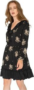 Czarna sukienka Milena Płatek mini
