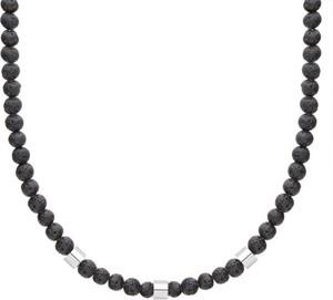 Manoki Naszyjnik męski lawa wulkaniczna z elementami beads