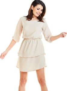 Sukienka Awama mini z długim rękawem