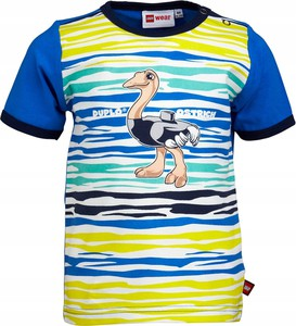 Koszulka dziecięca Oficjalny sklep Allegro w paseczki z krótkim rękawem