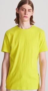 Zielony t-shirt Reserved z krótkim rękawem