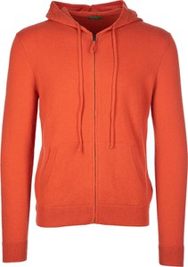 Czerwony sweter United Colors Of Benetton w stylu casual
