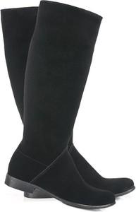 Kozaki Lafemmeshoes przed kolano w stylu casual ze skóry