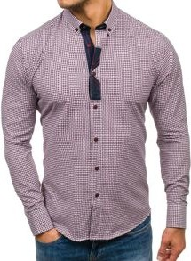 Koszula denley z bawełny z długim rękawem w street stylu