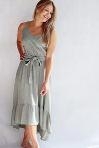 Sukienka Endoftheday na ramiączkach maxi z tkaniny