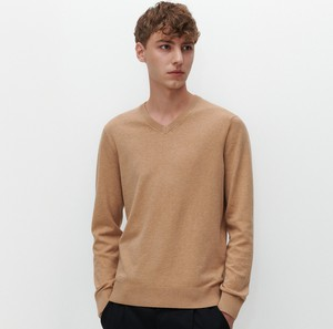 Brązowy sweter Reserved w stylu casual z bawełny