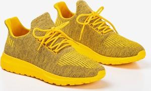 Żółte buty sportowe Royalfashion.pl sznurowane