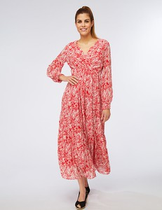 Sukienka Ella Paris z dekoltem w kształcie litery v maxi