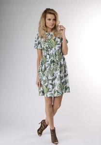 Sukienka Nommo z okrągłym dekoltem z krótkim rękawem w stylu casual