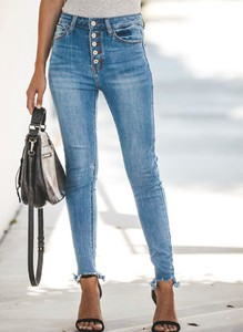 Jeansy Sandbella w stylu casual z jeansu
