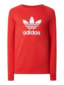 Czerwona bluza Adidas Originals z bawełny